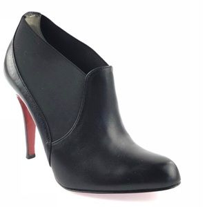 Authentic Christian Louboutin Leather Booties, 35